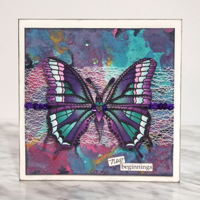 CSM-Butterfly Sequins Card